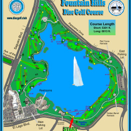 Fountain Hills Disc Golf Course Map